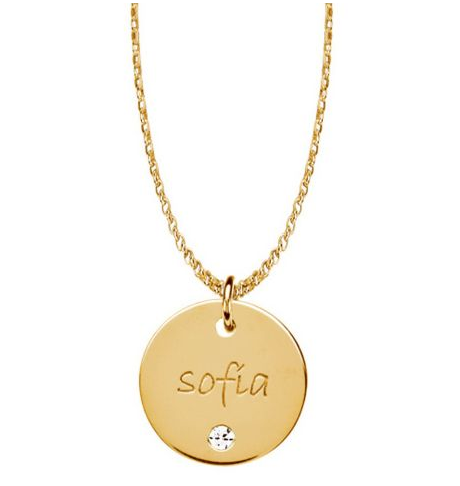Contempo gold vermeil posh mommy engravable name disc pendant with contempo gold vermeil posh mommy engravable name disc pendant with birthstone aloadofball Choice Image