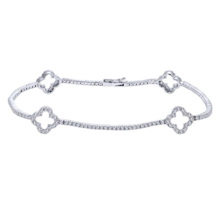 GABRIEL & CO 14K W.Gold Dia Bracelet TB3900W45JJ