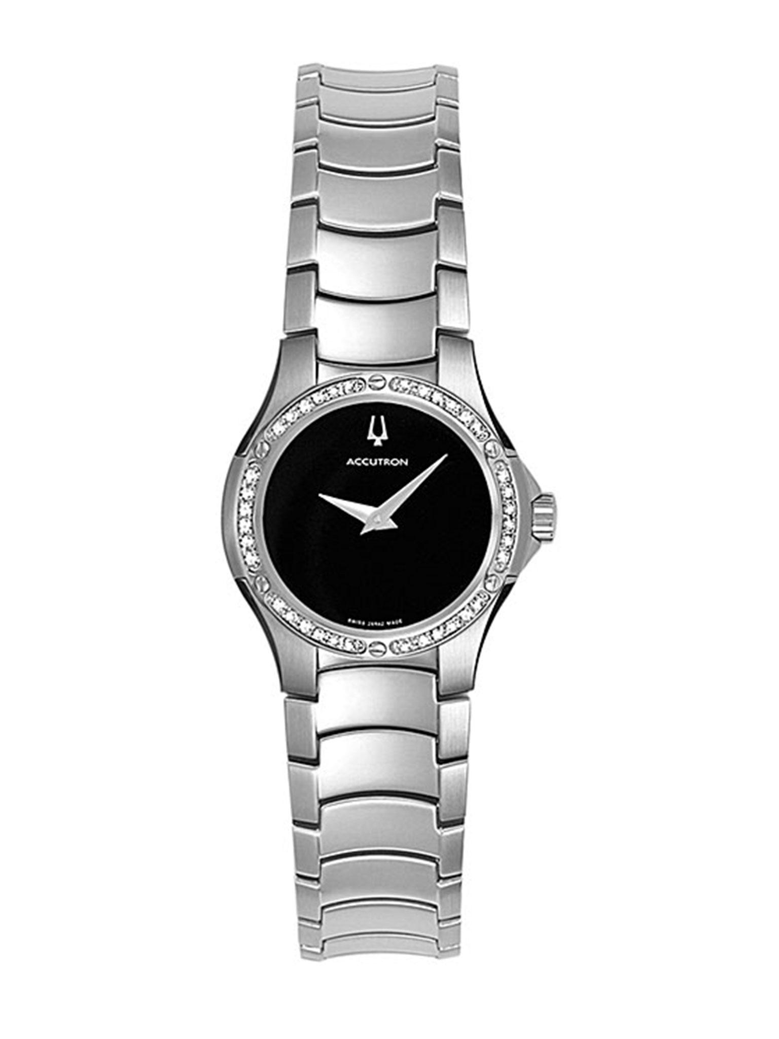 Womens Bulova Accutron Diamond Watch 26r42 Long Island