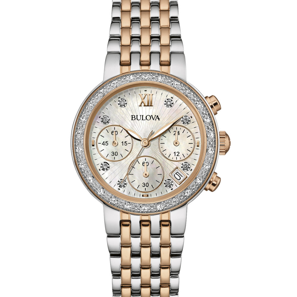 Women's Diamond Chronograph Watch 98R215