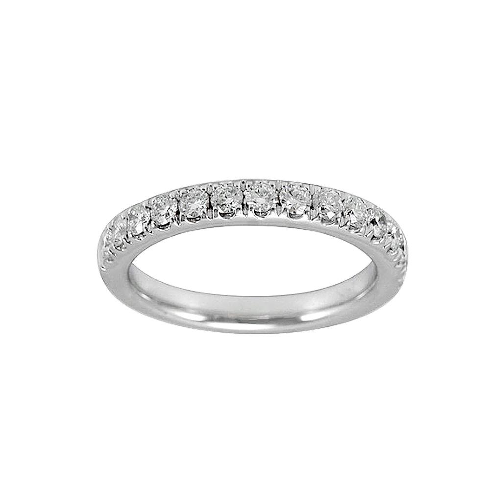 Women's diamond wedding bands white gold - Lady S 14kt White Gold Wedding Band With Round Diamonds Ykr00074 001