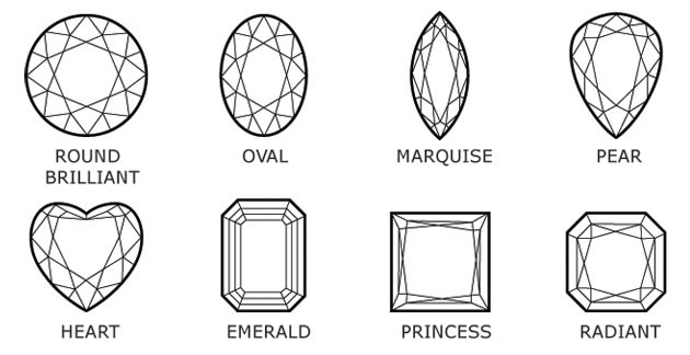 custom engagement ring diamond shapes