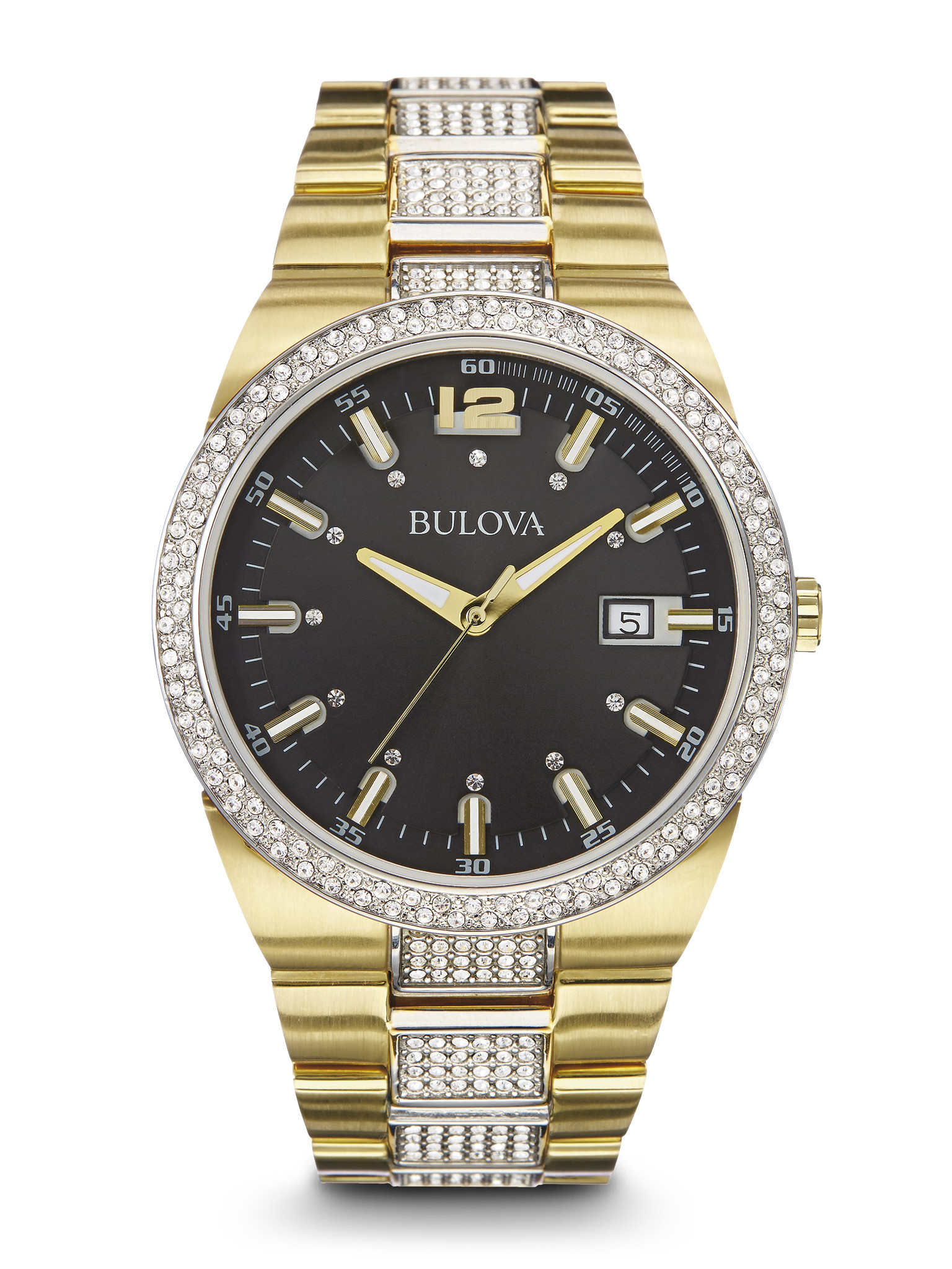Bulova 98b235 men 39 s crystal watch long island ny men 39 s bulova watches contempo jewelers for Crystal watches