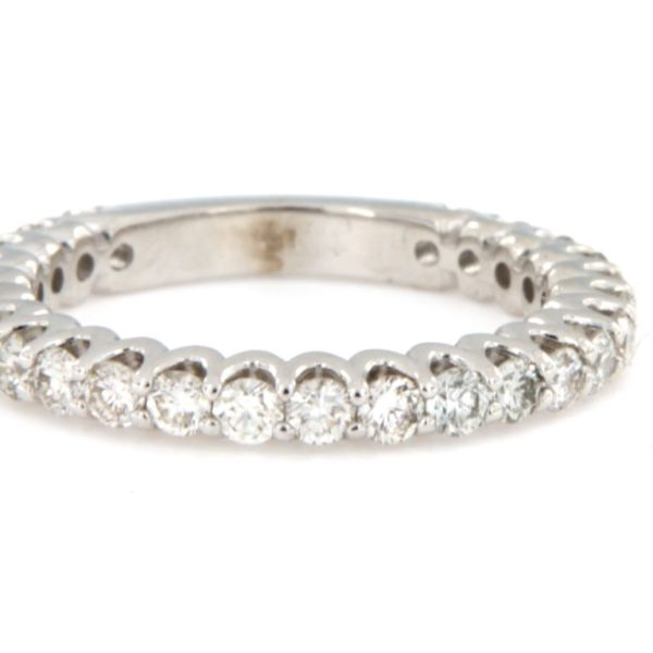 14 KT WHITE GOLD DIAMOND WEDDING BAND-MJ3526-2.3R