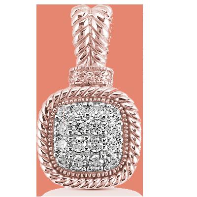 14KT Rose Gold & Diamond Pendant for Mother's Day