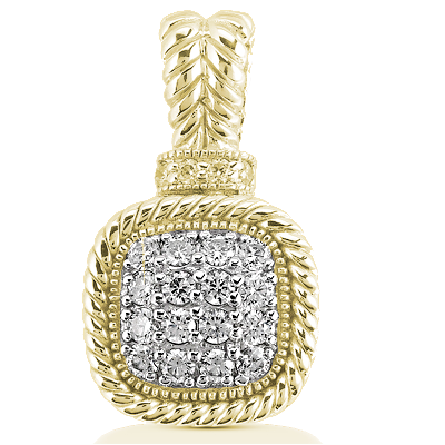 14KT Yellow Gold & Diamond Pendant for Mother's Day