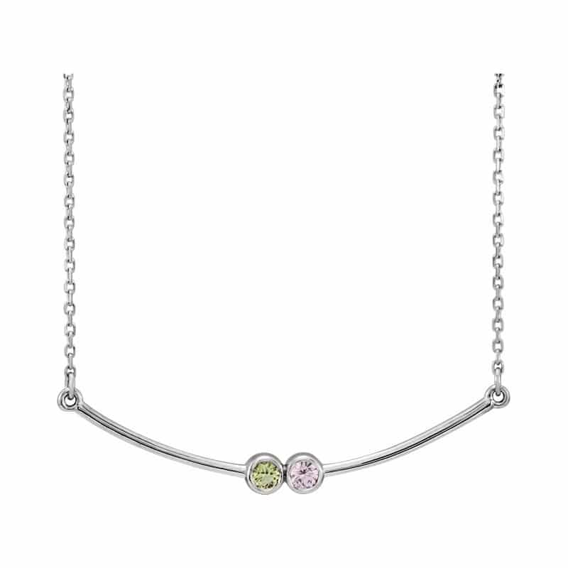 Curved Bar Family Necklace Long Island Ny Mothers Day