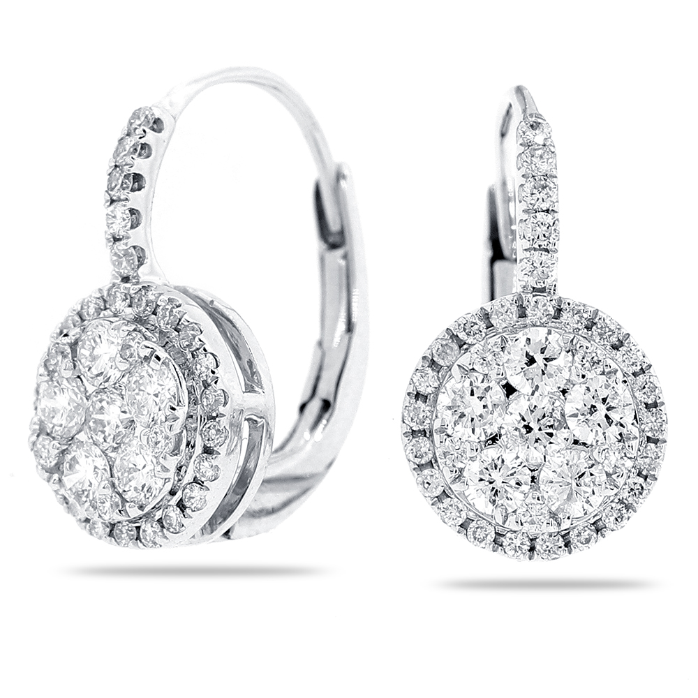 Diamond Leverback Earrings K
