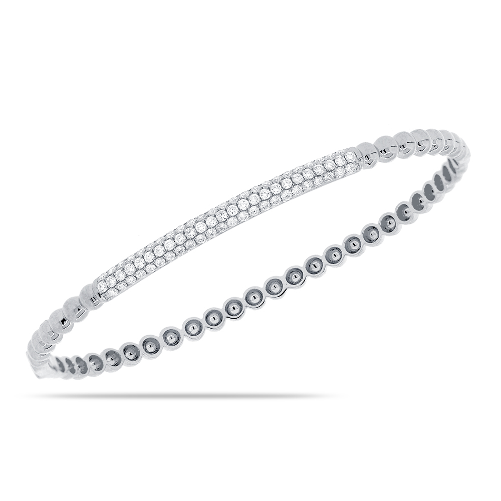 eternity pave bangle bracelet diamond bangles iidalx