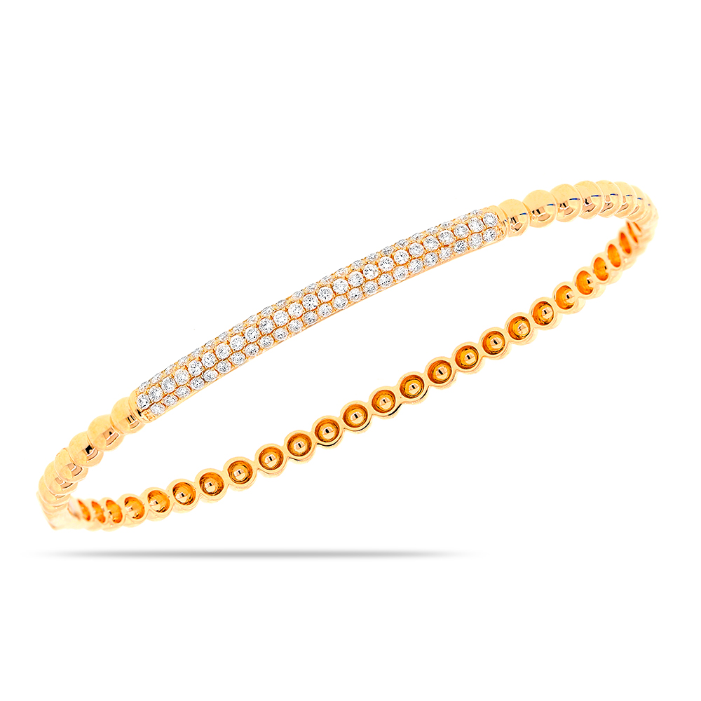 vintage diamond round bracelet pave bangles bangle gold in estate white img
