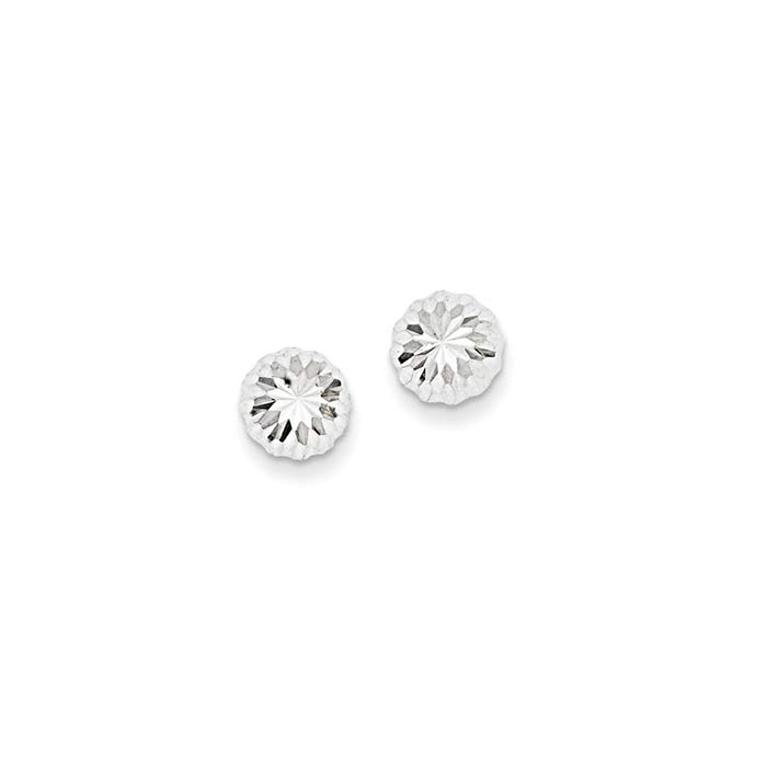 Diamond-Cut-Half-Ball-Kids-Earrings-xwe206-1