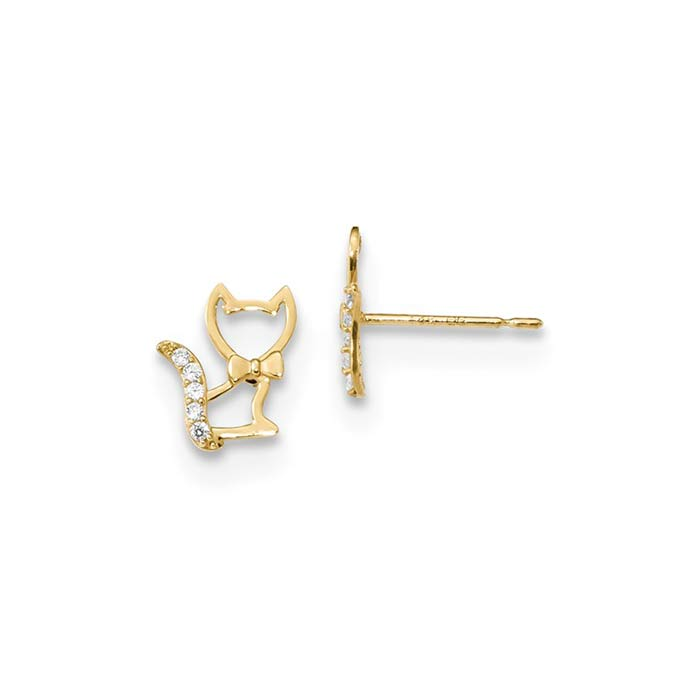 Madi-K-Childrens-Kitten-Post-Earrings-se2568-1