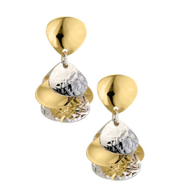 STERLING SILVER YELLOW GOLD PLATED CLUSTER EARRINGS e808
