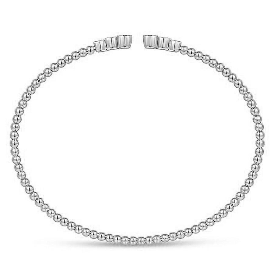 3 Diamond Bangle Bracelet White Gold