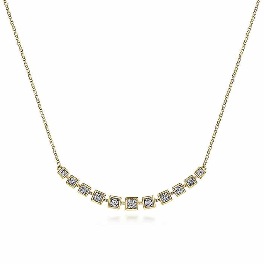 Bar-Necklace-with-Diamond-Squares-in-14k-Yellow-Gold