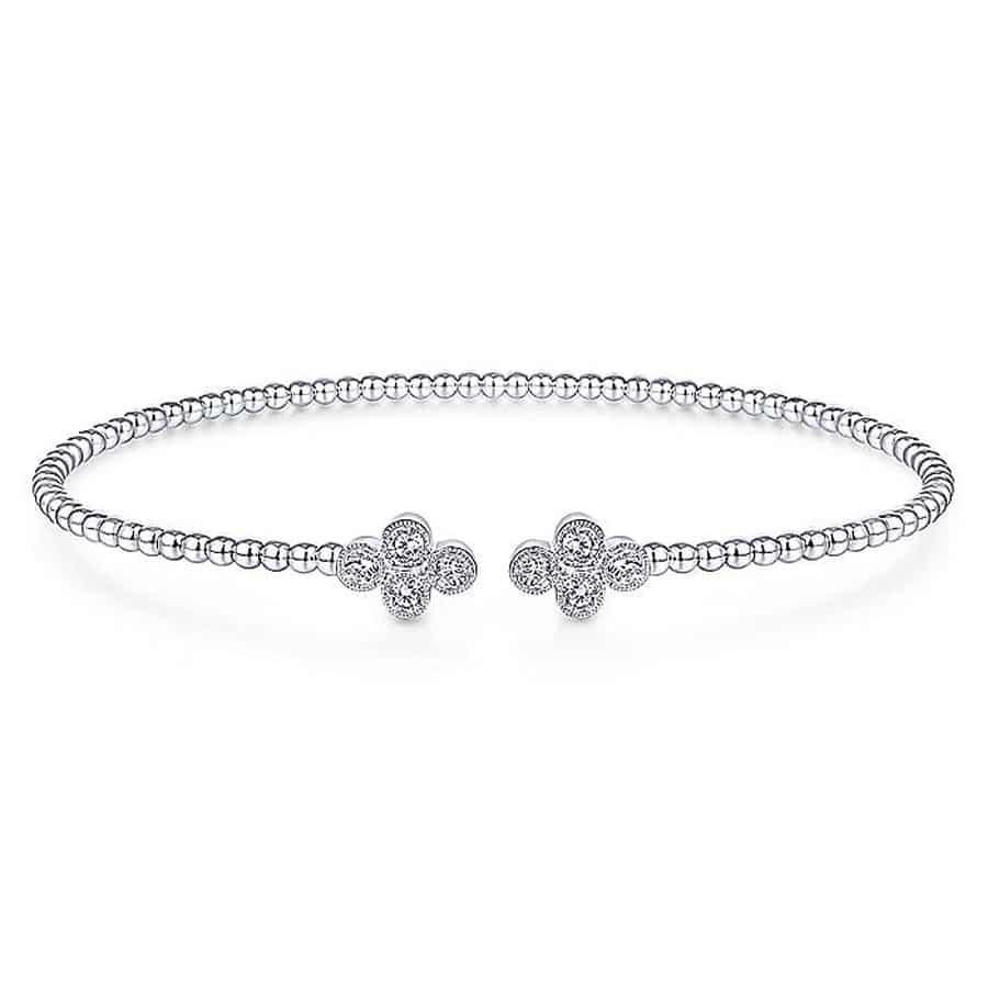 Clover-Diamond-Open-Bangle-14k-white