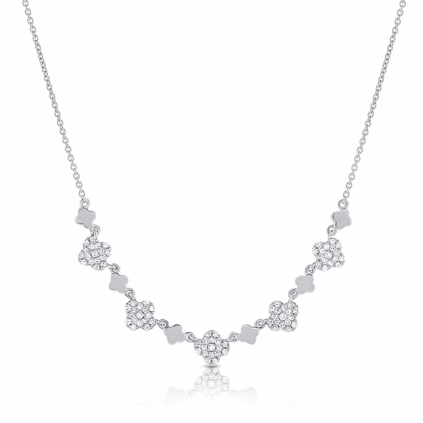 Diamond-Clover-Heart-Pendant-14k-White-Gold-AAN689