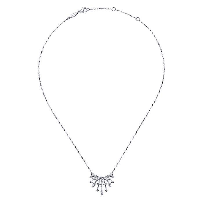 Dangling Diamonds Necklace in 14k White Gold - fullsize