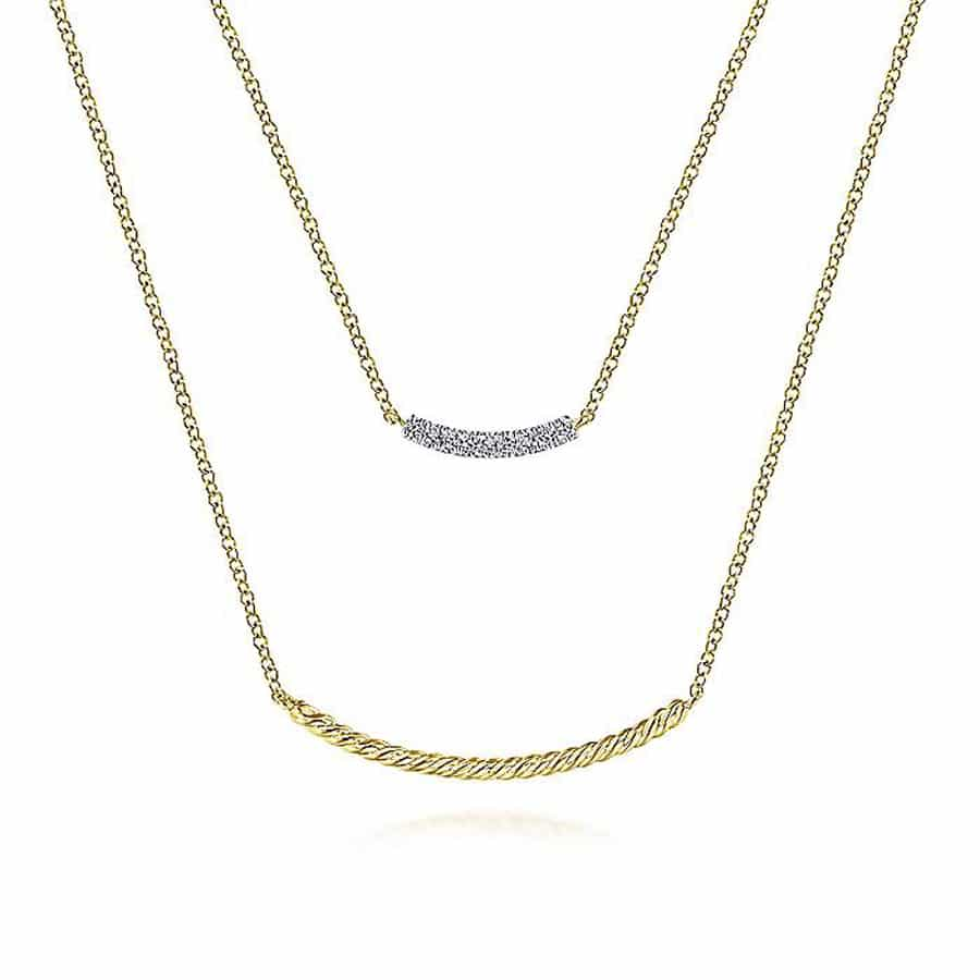 Layered-Diamond-Twisted-Bar-Necklace-in-14k-Yellow-Gold