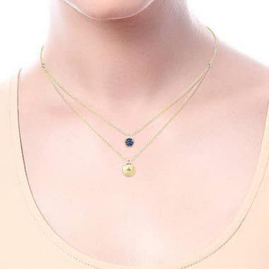 Sapphire & Diamond Necklace Wearing