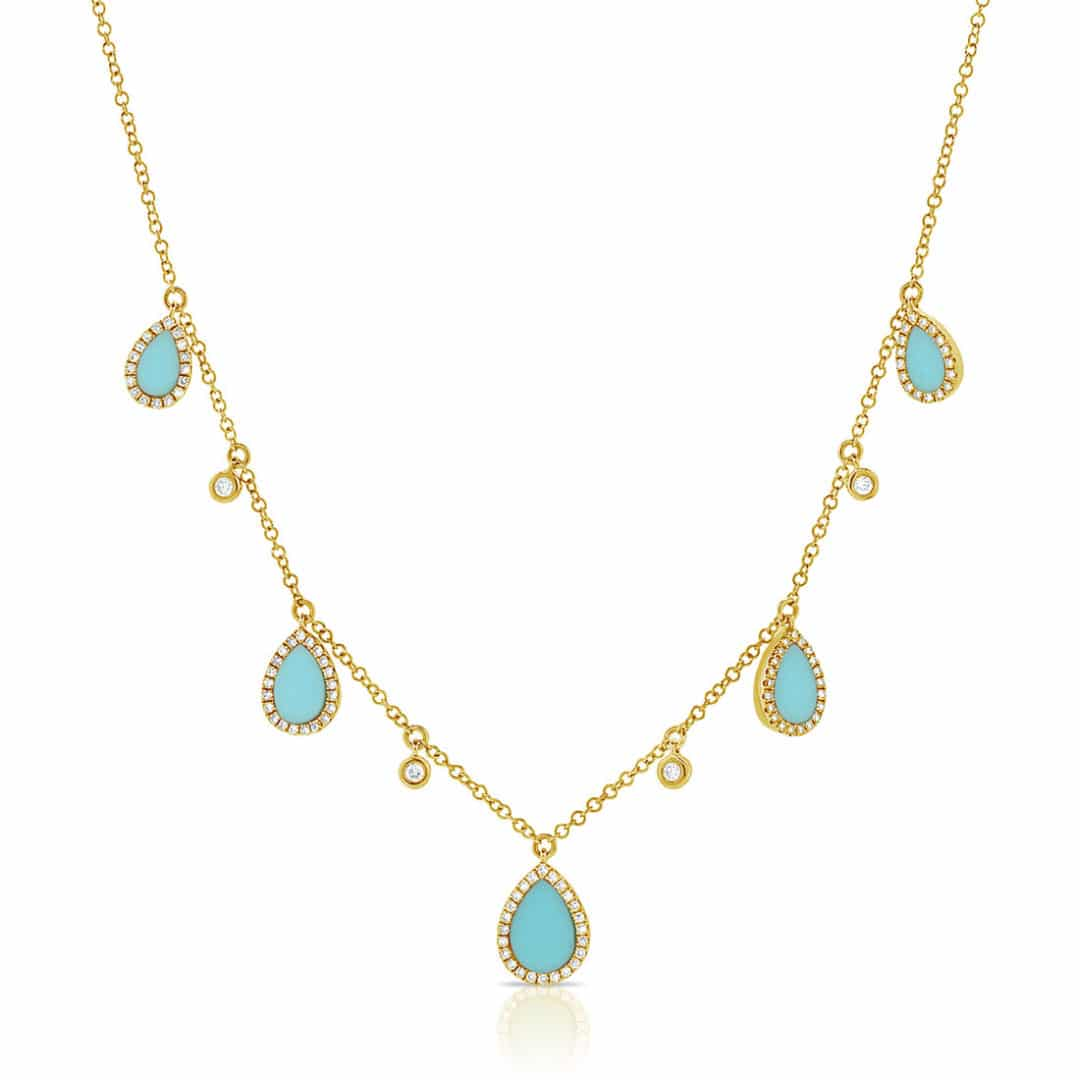 Turquoise-Diamond-Bezeled-Drop-Pendants-Necklace-in-14k-Yellow-Gold-MN00370TQYG