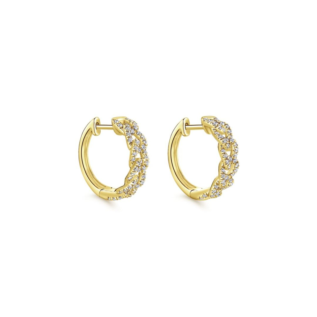Chainlink Diamond Huggie Earrings_Gabriel-EG13232Y45JJ-1