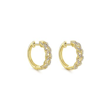 Chainlink Diamond Huggie Earrings_Gabriel-EG13232Y5JJ - Angled View