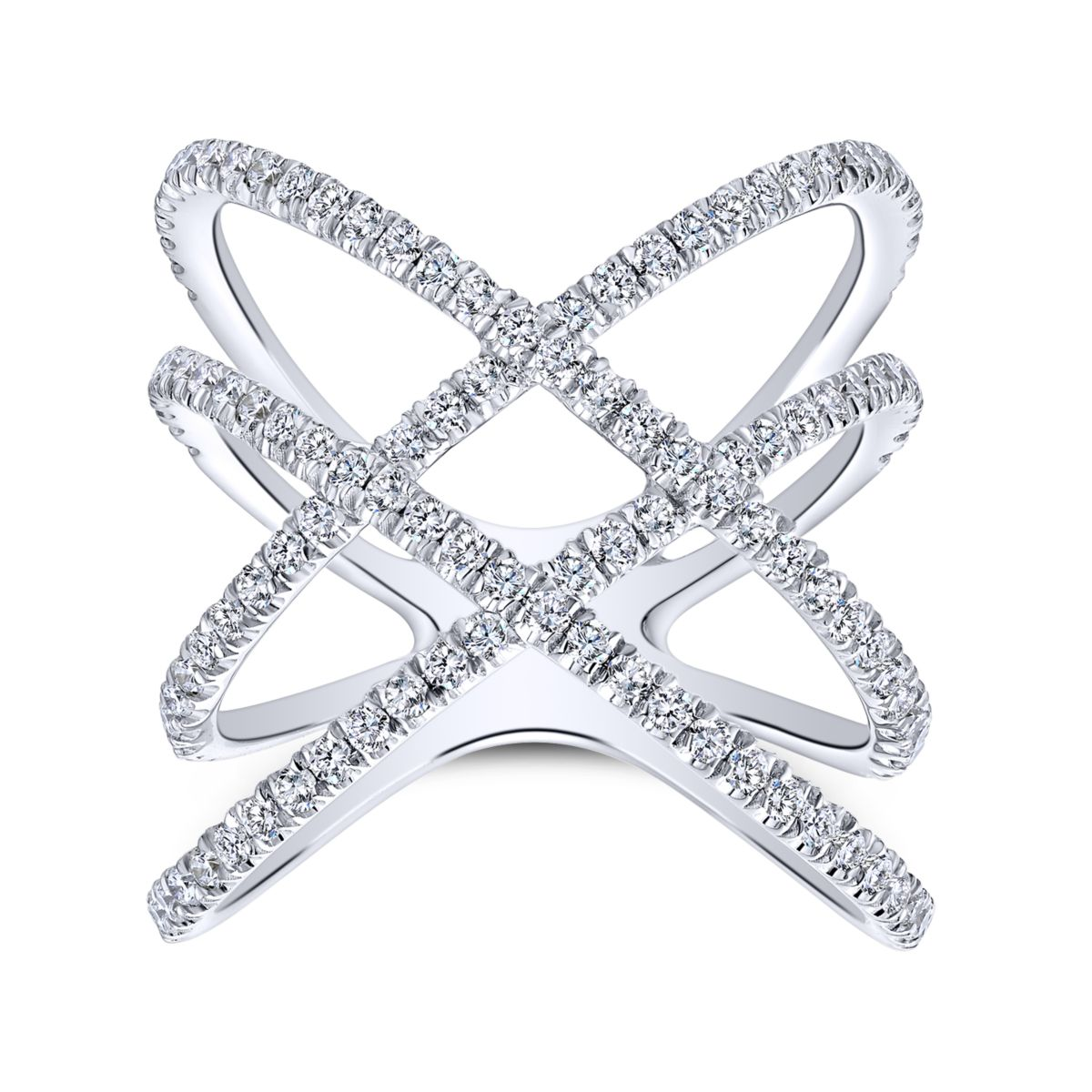 Back of the Lusso Twisted Woven Diamond Ring White Gold - Long Island, NY