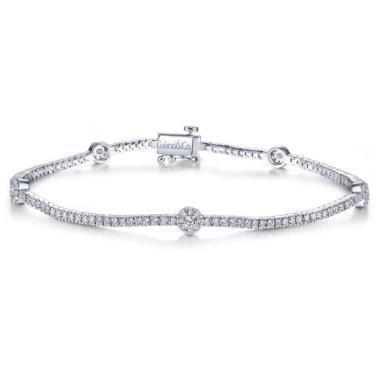 Round-Diamond-TenniLusso Bracelet in 14k White Gold