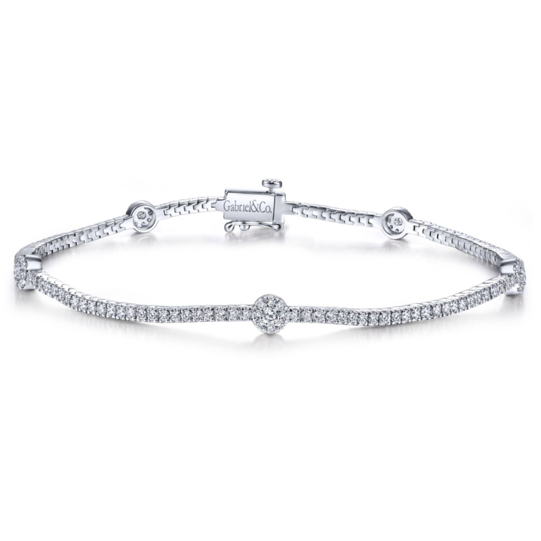 Round-Diamond-TenniLusso Bracelet in 14k White Gold