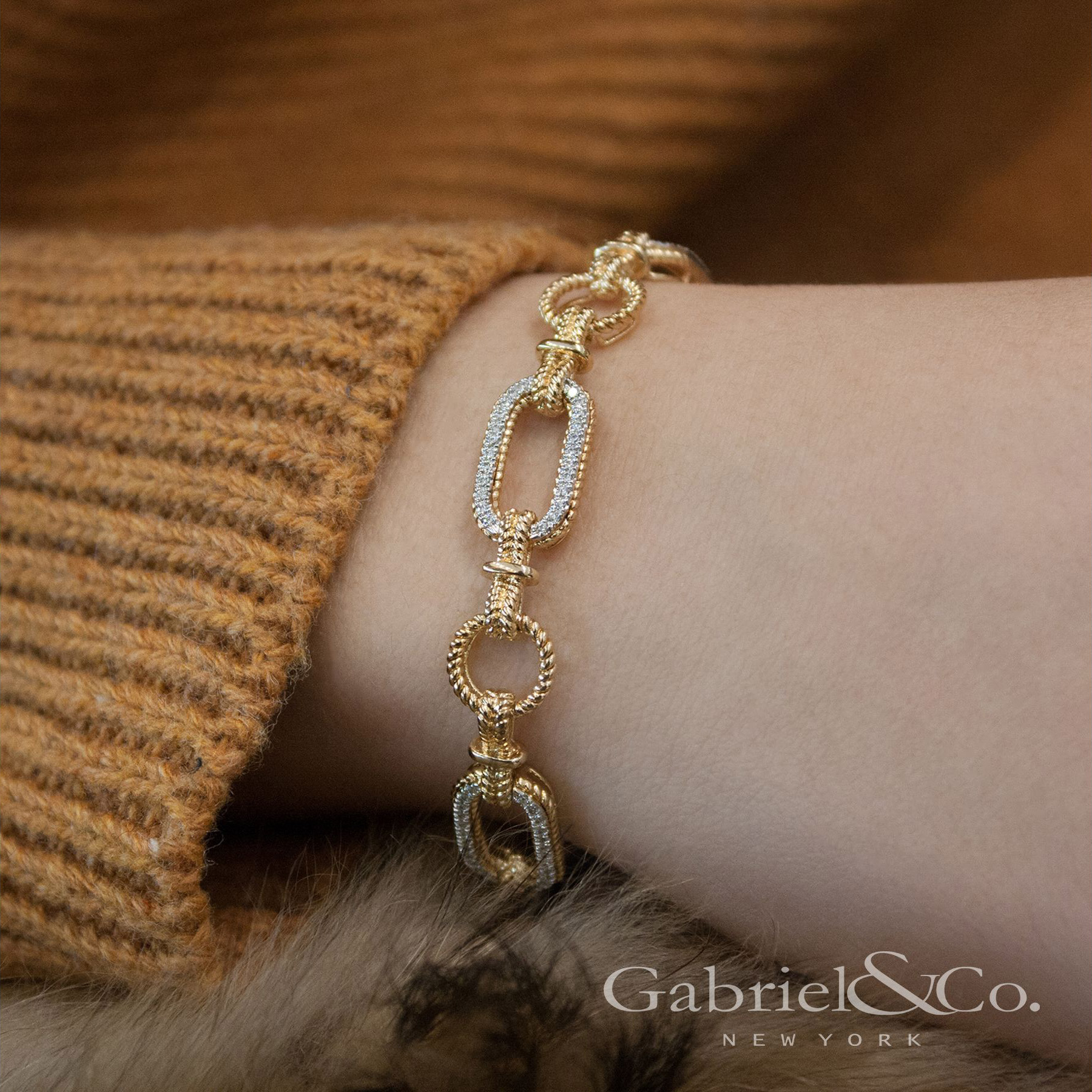 Wearing the Gabriel&Co Hampton Bracelet