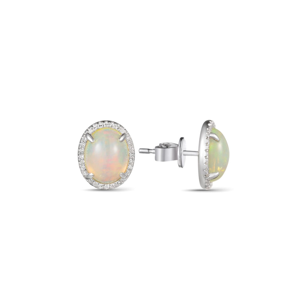 opal-diamond-halo-stud-earrings-luvente-long-island-ny