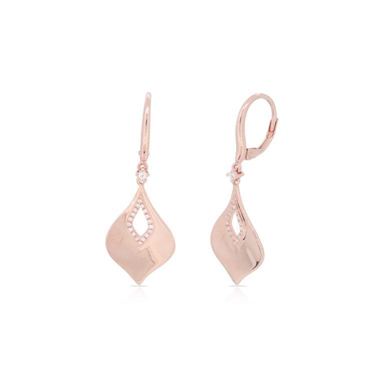 Dangle Earrings in 14k Pink Gold - Luvente Earrings